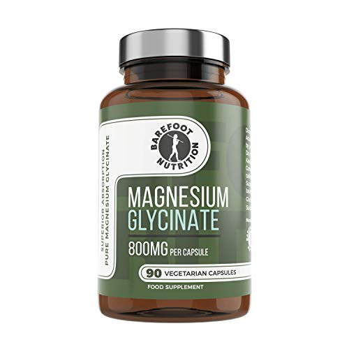 Barefoot-Nutrition-Magnesium-Glycinate-Supplement-800mg-90-x-1-to-3-a-Day-Capsules-Pullulan-Capsule-Superior-Absorption-no-Synthetic-Binders-or-additives-Vegan-Paleo-Friendly