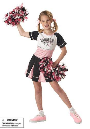 CHILD X-Small 4-6X All Star Cheerleader Costume - Halloween Costume Black Skirt White Top