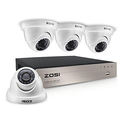 ZOSI 8CH HD-TVI 1080N Video CCTV DVR Security System w/ 4pcs 1.0