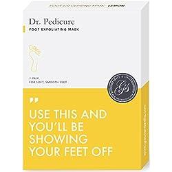 BEST Dr. Pedicure Foot Exfoliation Peeling Mask   For Smooth Baby Soft Feet, Dry Dead Skin Natural Treatment, Repair Rough Heels, Callus Remover, Soak Socks Booties, Get Gentle Feet, Lemon (1 Pair)