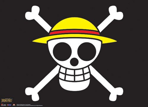Great Eastern One Piece Pirates Flag Fabric Poster (Cartoon Pirate Hat)