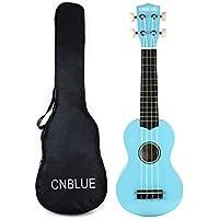 Soprano Ukulele 21 inch Beginner Starter Ukulele for Children Students with Gig Bag (Light Blue)