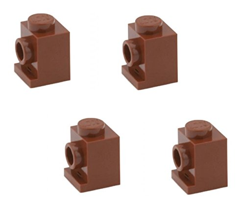 - Lego Parts: Brick, Modified 1 x 1 with Headlight (PACK of 4 - Reddish Brown)