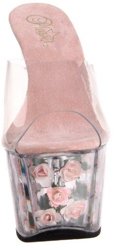 Pleaser Transparent Fleurs 701FL Sandales femme ouvert Bout ADORE qxrq1YzA