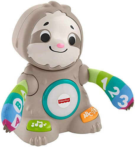 41kJmKOV3YL - Fisher-Price Linkimals Smooth Moves Sloth - Interactive Educational Toy with Music, Lights, and Motion for Baby Ages 9 Months & Up
