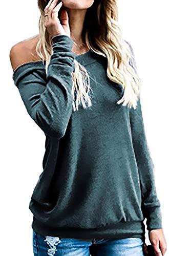 ses, Off the Shoulder Tshirt Long Sleeve Green M ()