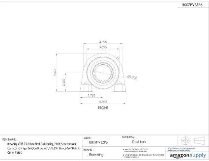 Amazon.com: Browning vtbs-231 almohada Bloque Ball Bearing ...