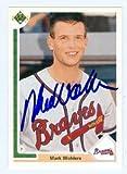 Autograph Warehouse 75285 Mark Wohlers Autographed Baseball Card Atlanta Braves 1991 Upper Deck No .77F