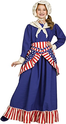 Girls Betsy Ross Historical American Costume Size Medium -
