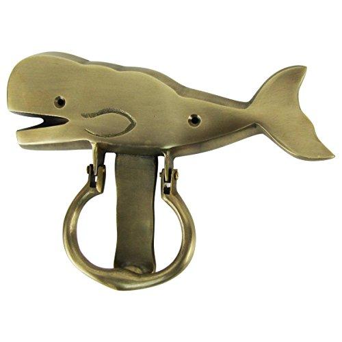 Solid Brass Sperm Whale Door Knocker Beach House/Sea Life/Home Decor Doorknocker