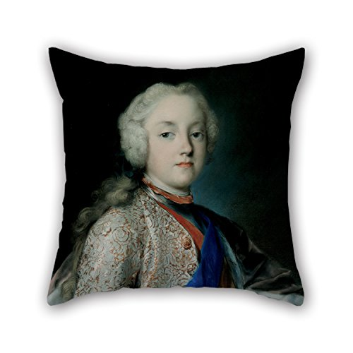 [Oil Painting Rosalba Carriera - Crown Prince Friedrich Christian Of Saxony (1739) Pillowcover ,best For Him,saloon,kitchen,teens Girls,office,bedroom 18 X 18 Inches / 45 By 45 Cm(twice] (Leo Johnson Costume)