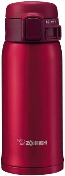 Zojirushi Stainless Steel Vacuum Insulated Mug, 12-Ounce, Garnet Red