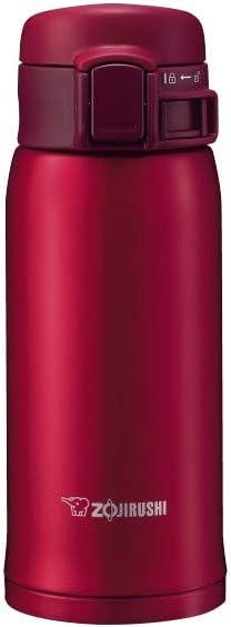 Zojirushi Stainless Steel Vacuum Insulated Mug, 12-Ounce, Garnet Red