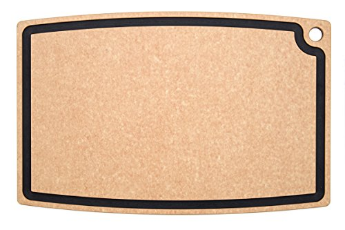 Epicurean Chef Series Chef Cutting Board with Juice Groove, 27-by-18-Inch, Natural/Slate by Epicurean
