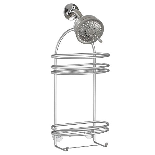 InterDesign Axis Hanging Shower Caddy - Bathroom Storage Shelves for Shampoo, Conditioner and Soap, - Wine Hanging Caddy