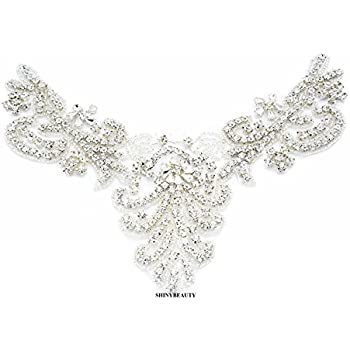 Amazon.com  Crystal applique rhinestone applique wedding applique ... 0525bf9c2dbb