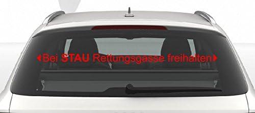 Dinger Design Aufkleber Bei Stau Rettungsgasse Freihalten Feuerwehr Drk Polizei Thw 60 Cm Rot Auto