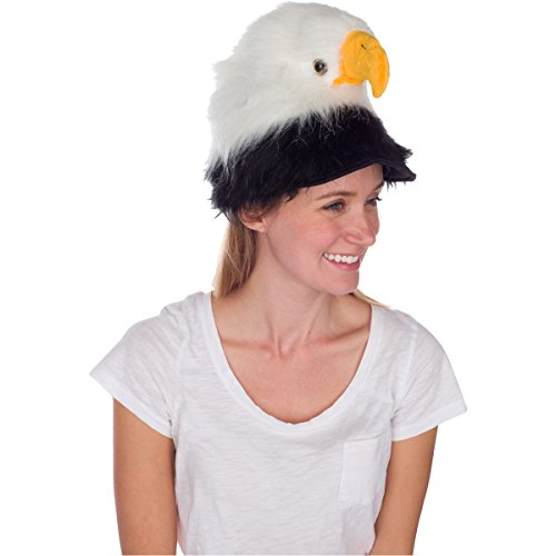 Bald Eagle Animal Hat, Realistic Plush Bird Costume Headwear - One Size]()