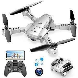 SNAPTAIN A10 Mini Drone Caméra 720P Pliable WiFi FPV, Contrôle par Gestes, Induction de Gravité, Vol de Trajectoire…