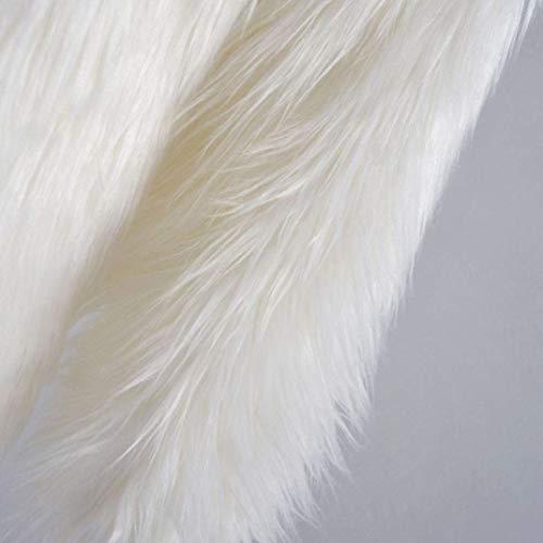 Larga Espesor Termica Elegantes Encapuchado Joven Mujer De Abrigo Manga Largos Anchos Blanco Chaqueta Ocasional Invierno Women Moda Piel Sintética Unicolor Abrigos q4BzIPyw