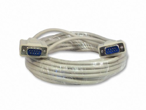 Your Cable Store 25 Foot DB9 9-Pin Serial Cable Male/Male RS232 (Pin Cables Serial 9)