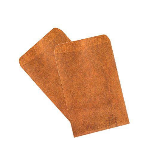 Seed Paper Business Card - IMagicoo 50 Pcs Brown Vintage Kraft Envelope for Letter, Holiday Cards, Greeting Cards, Invitations, Announcements, Cards, Photos, 6.3 x 4.3 Inch