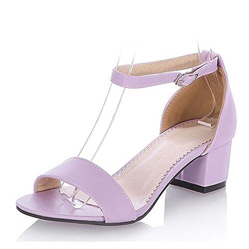 Purple Block Heels: Amazon.com
