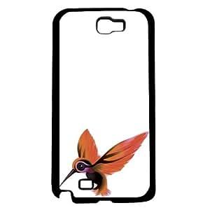 Orange Hummingbird on White Background Hard Snap on Phone Case (Note 2 II)
