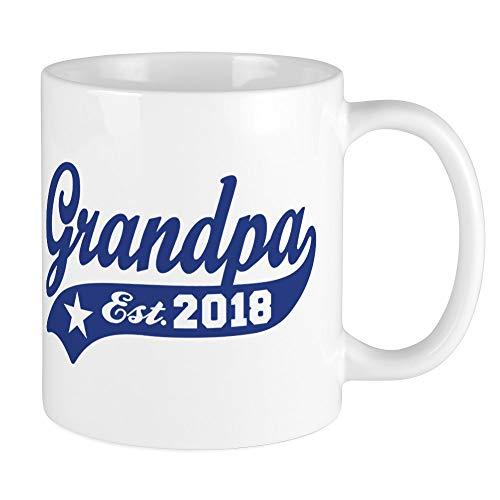 CafePress Grandpa Est. 2018 Unique Coffee Mug, Coffee Cup
