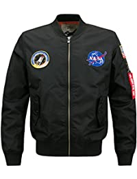 Men's Military Jacket Bomber Tops Zippers Retro Patch 17 Style XS-4XL