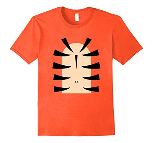 Mens Tiger Stripe Belly Last Minute Halloween T-Shirt Costume Tee Large - Last Ideas Halloween Outfit Minute