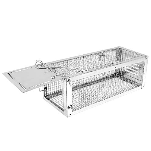 - RatzFatz Mouse Trap Humane Live Cage, Catch and Release mice, Chipmunks, Hamsters and Other Rodents, Solid Door