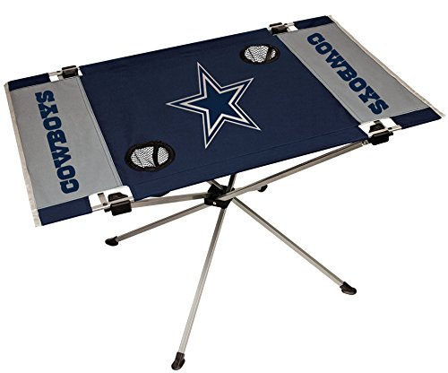 Dallas Cowboys Furniture - Rawlings NFL Portable Folding Endzone Table, 31.5 in x 20.7 in x 19 in
