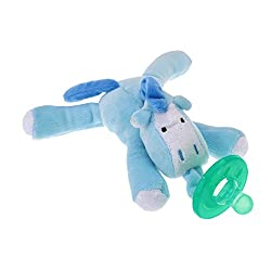 Infant Baby Boy Girl Silicone Pacifiers Cuddly Plush Animal Baby Nipples New