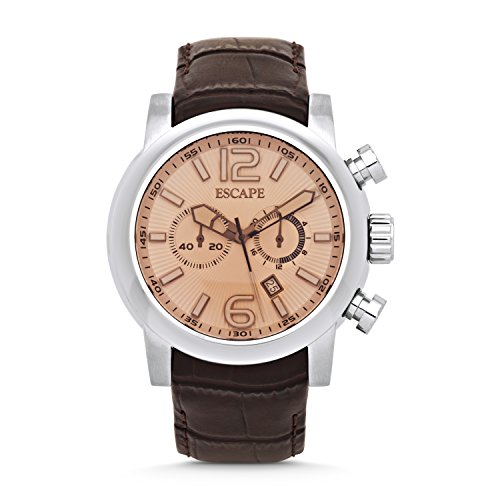 escape-mens-adler-stainless-brown-leather-chrono-watches