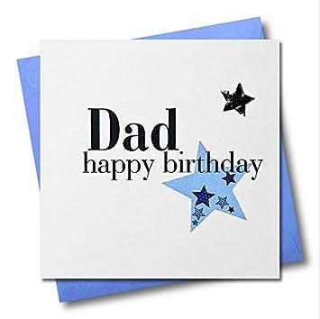Pom Pom Pom016 Happy Birthday Dad Greeting Card Dad Greeting Card