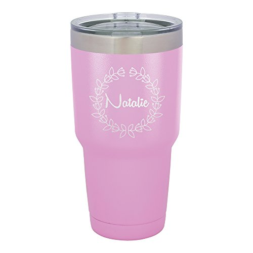 Froolu Stainless Steel Coffee Travel Mug - Purple Personalized Laser Engraved Tumbler - Hydro Travel Cup ()