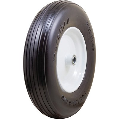Marathon Tires Flat-Free Dense Wheelbarrow Tire - 3/4in. Bore, 4.80/4.00-8in.