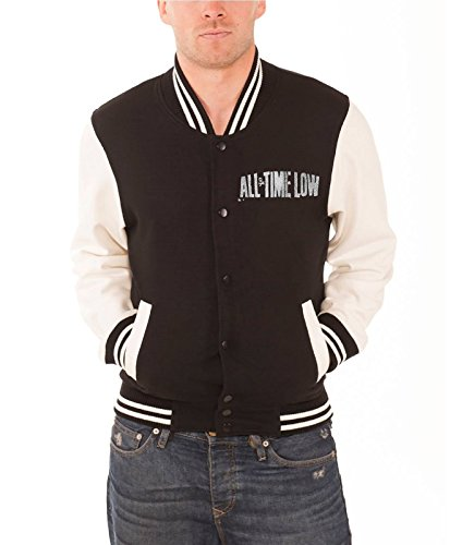 All Time Low Sea Sick Official Mens New Black Baseball Jacket -