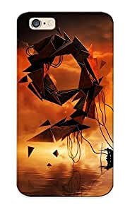 Imx320CHrkc Case Cover Protector Series For Iphone 6 Dark Grim Reaper Horror Skeletons Skull Creepy Abstract Lakes Reflection Case For Lovers