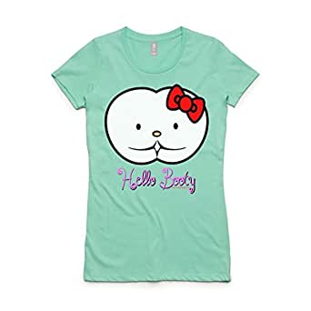 Hello Booty T-Shirt (Small, Mint Green)