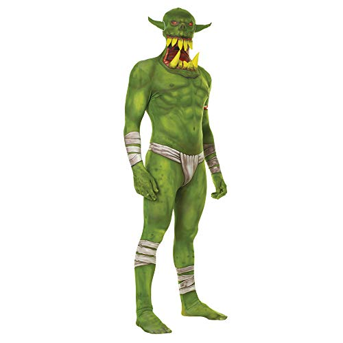 Morphsuits Kids Green Orc Monster Costume - Medium 3'6-3'11 / 8-10 Years