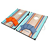 Harvil Classic Cornhole Bean Bag Toss Game Set with 8 Regulation Size, Double-Lined