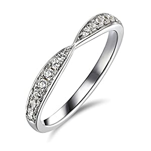 2 Ct Enhanced Diamond(VS) Engagement Ring Solitaire 14k White Gold Twist Wedding Anniversary Band