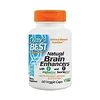 Doctor's Best Natural Brain Enhancers, Sin OGM, Vegano, sin gluten, 60 cápsulas vegetarianas