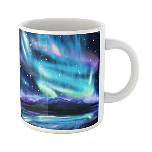 - Semtomn Funny Coffee Mug Alaska Northern Lights Aurora Borealis Dramatic Landscape Polar Universe 11 Oz Ceramic Coffee Mugs Tea Cup Best Gift Or Souvenir