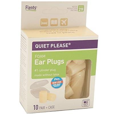 Flents Quiet! Please Foam Ear Plugs #F408-150 10 Pairs