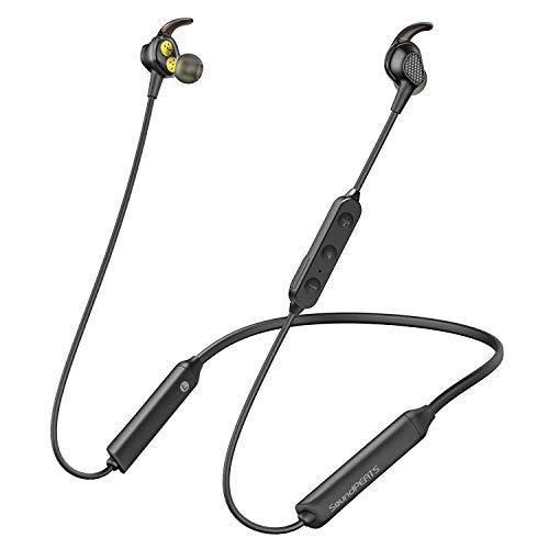 SoundPEATS Engine Bluetooth Headphone, Wireless Neckband in-Ear Earbuds, Dual Dynamic Driver Magnetic Earphone(IPX6 Sweatproof, 13Hours Playtime, CVC 6.0)-Mic Upgrade V2.0