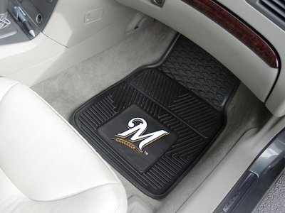 (Heavy Duty Vinyl Car Mats - Set of 2 - Milwaukee)