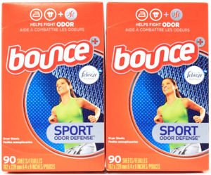 BounceスポーツOdor Defense 90 Count 2 Boxes B07DKZ42G5